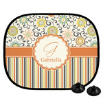 Swirls, Floral & Stripes Car Side Window Sun Shade (Personalized)