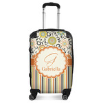 Swirls, Floral & Stripes Suitcase (Personalized)