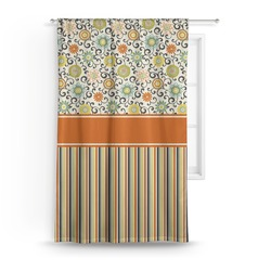 Swirls, Floral & Stripes Curtain (Personalized)