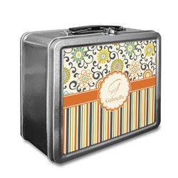 Swirls, Floral & Stripes Lunch Box (Personalized)