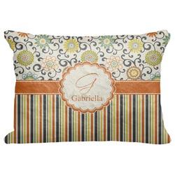 "Swirls, Floral & Stripes Decorative Baby Pillowcase - 16""x12"" (Personalized)"