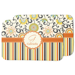 Swirls, Floral & Stripes Dish Drying Mat (Personalized)