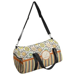 Swirls, Floral & Stripes Duffel Bag (Personalized)