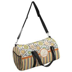 Swirls, Floral & Stripes Duffel Bag (Personalized)