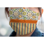 Swirls, Floral & Stripes Face Mask Cover (Personalized)