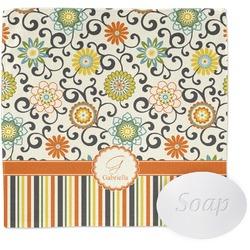 Swirls, Floral & Stripes Wash Cloth (Personalized)