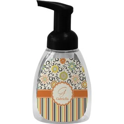 Swirls, Floral & Stripes Foam Soap Dispenser (Personalized)
