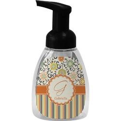 Swirls, Floral & Stripes Foam Soap Dispenser (Personalized)