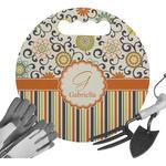 Swirls, Floral & Stripes Gardening Knee Cushion (Personalized)