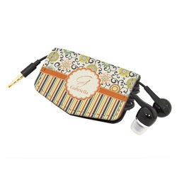 Swirls, Floral & Stripes Genuine Leather Cord Wrap (Personalized)