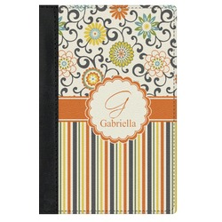 Swirls, Floral & Stripes Genuine Leather Passport Cover (Personalized)