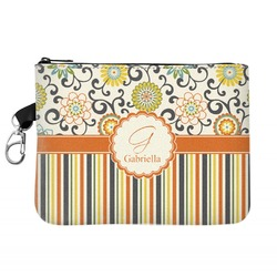 Swirls, Floral & Stripes Golf Accessories Bag (Personalized)