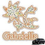 Swirls, Floral & Stripes Graphic Car Decal (Personalized)