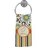 Swirls, Floral & Stripes Hand Towel - Full Print (Personalized)