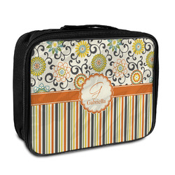 Swirls, Floral & Stripes Insulated Lunch Bag (Personalized)