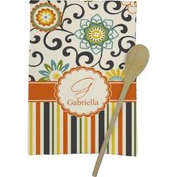 Swirls, Floral & Stripes Kitchen Towel - Full Print (Personalized)