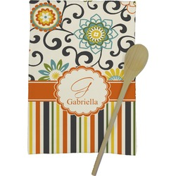 Swirls, Floral & Stripes Kitchen Towel - Full Print (Personalized)