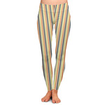 Swirls, Floral & Stripes Ladies Leggings (Personalized)