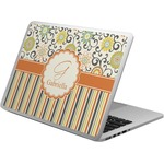 Swirls, Floral & Stripes Laptop Skin - Custom Sized (Personalized)