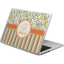 Swirls, Floral & Stripes Laptop Skin - Custom Sized (Personalized)