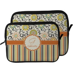 Swirls, Floral & Stripes Laptop Sleeve / Case (Personalized)