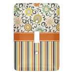 Swirls, Floral & Stripes Light Switch Covers (Personalized)