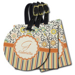 Swirls, Floral & Stripes Plastic Luggage Tags (Personalized)