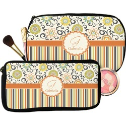 Swirls, Floral & Stripes Makeup / Cosmetic Bag (Personalized)