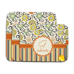 Swirls, Floral & Stripes Memory Foam Bath Mat (Personalized)