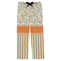 Swirls, Floral & Stripes Mens Pajama Pants (Personalized)