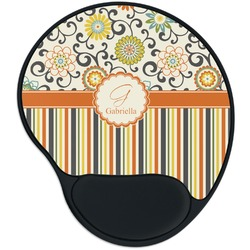 Swirls, Floral & Stripes Mouse Pad with Wrist Support