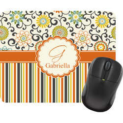 Swirls, Floral & Stripes Mouse Pad (Personalized)