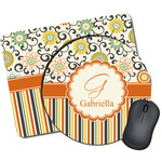 Swirls, Floral & Stripes Mouse Pads (Personalized)