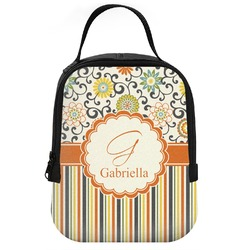 Swirls, Floral & Stripes Neoprene Lunch Tote (Personalized)