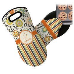 Swirls, Floral & Stripes Neoprene Oven Mitt (Personalized)