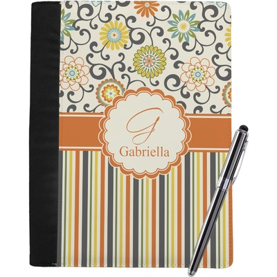 Swirls, Floral & Stripes Notebook Padfolio (Personalized)