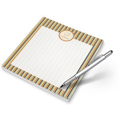 Swirls, Floral & Stripes Notepad (Personalized)
