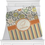 Swirls, Floral & Stripes Minky Blanket (Personalized)
