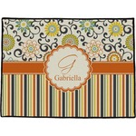 Swirls, Floral & Stripes Door Mat (Personalized)