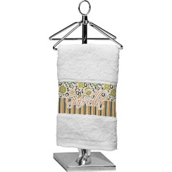 Swirls, Floral & Stripes Finger Tip Towel (Personalized)