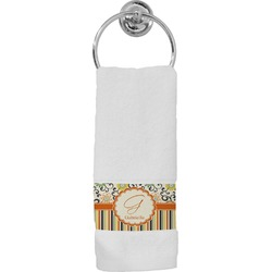 Swirls, Floral & Stripes Hand Towel (Personalized)