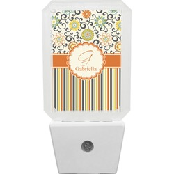 Swirls, Floral & Stripes Night Light (Personalized)