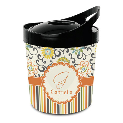 Swirls, Floral & Stripes Plastic Ice Bucket (Personalized)