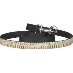 Swirls, Floral & Stripes Pet / Dog Leash (Personalized)