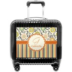 Swirls, Floral & Stripes Pilot / Flight Suitcase (Personalized)