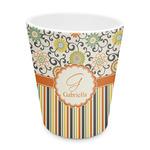 Swirls, Floral & Stripes Plastic Tumbler 6oz (Personalized)