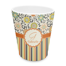 Swirls, Floral & Stripes Plastic Tumbler 6oz (Personalized)