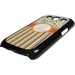 Swirls, Floral & Stripes Plastic Samsung Galaxy 3 Phone Case (Personalized)