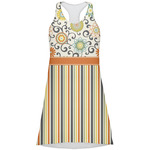 Swirls, Floral & Stripes Racerback Dress (Personalized)