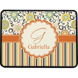 Swirls, Floral & Stripes Rectangular Trailer Hitch Cover (Personalized)